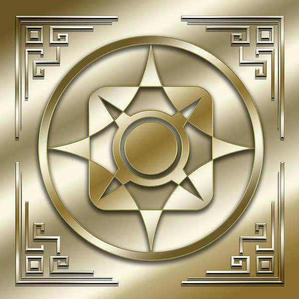 Digital Art - Golden Medallion 2 by Chuck Staley