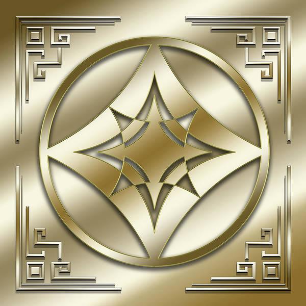 Digital Art - Golden Medallion 3 by Chuck Staley