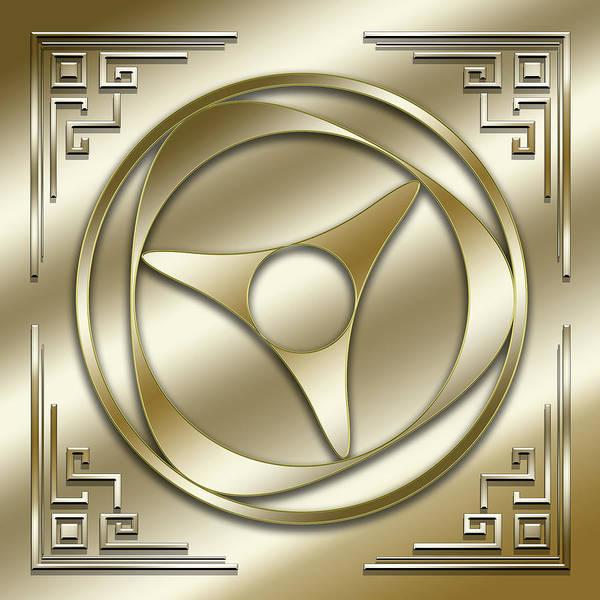 Digital Art - Golden Medallion 4 by Chuck Staley