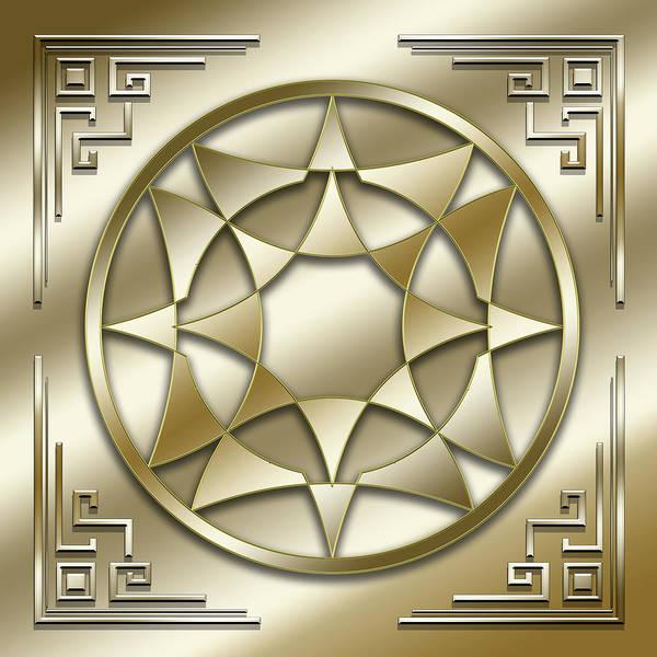 Digital Art - Golden Medallion 5 by Chuck Staley