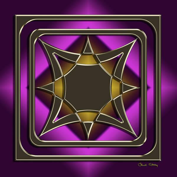 Digital Art - Golden Mocha On Purple 10 by Chuck Staley