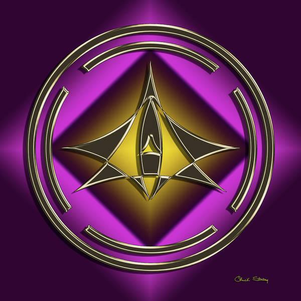 Digital Art - Golden Mocha On Purple 3 by Chuck Staley