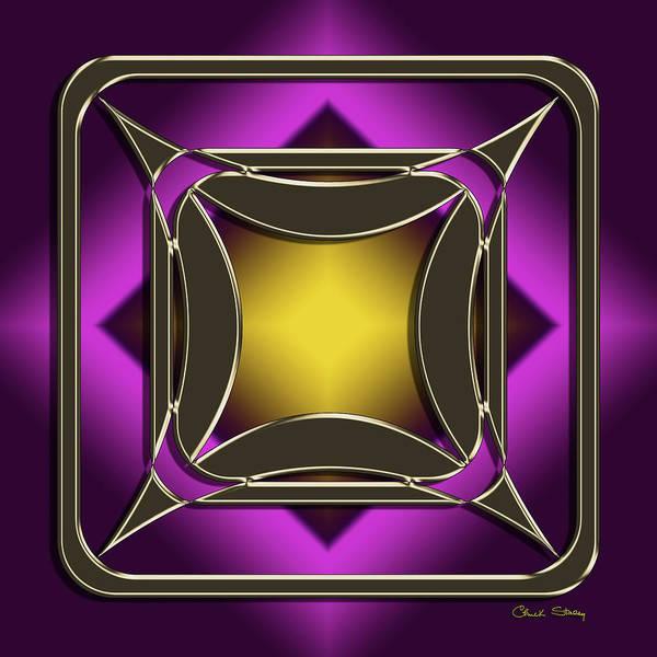 Digital Art - Golden Mocha On Purple 4 by Chuck Staley