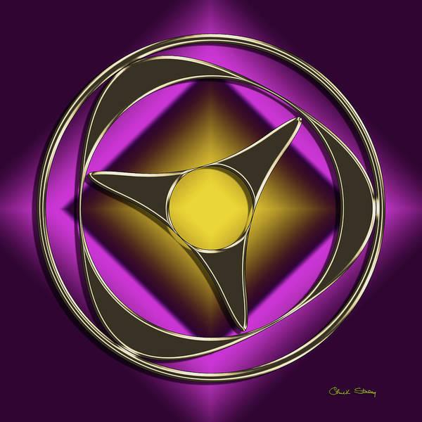 Digital Art - Golden Mocha On Purple 6 by Chuck Staley