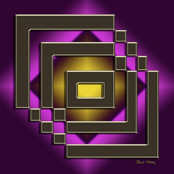 Digital Art - Golden Mocha On Purple 7 by Chuck Staley