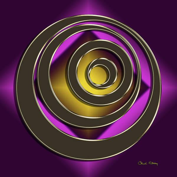 Digital Art - Golden Mocha On Purple 8 by Chuck Staley