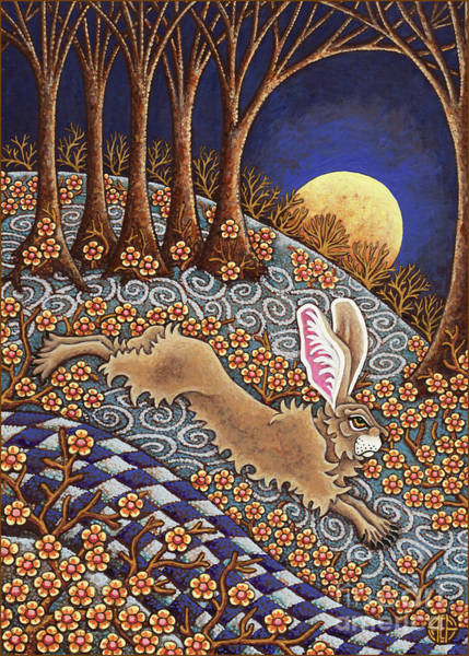 Painting - Golden Moonlight Gallop  by Amy E Fraser