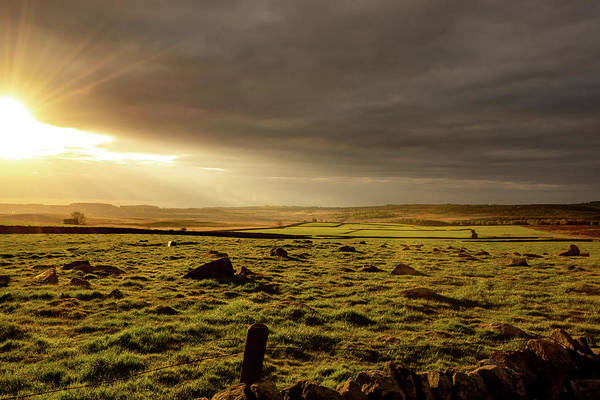 Photograph - Golden Morning At Baslow Edge, Derbyshire by Scott Lyons
