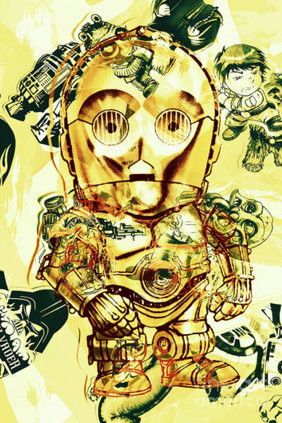 Sci-fi Photograph - Golden Movie Mech by Jorgo Photography - Wall Art Gallery