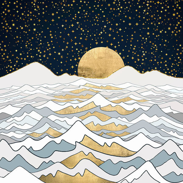 Wall Art - Digital Art - Golden Ocean by Spacefrog Designs