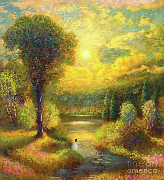 Tranquility Painting - Golden Peace by Jane Small