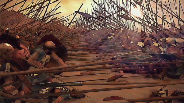 Painting - Golden Phalanx - 06 by Andrea Mazzocchetti