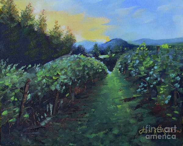 Painting - Golden Promise - Ott Farms And Vineyard by Jan Dappen