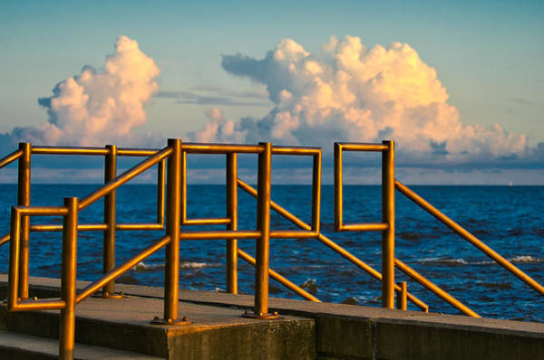 Golden Railings Art Print