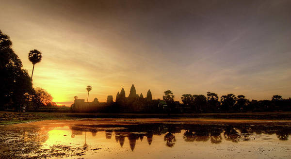 Cambodian Photograph - Golden Reflections by Photo By Dan Goldberger