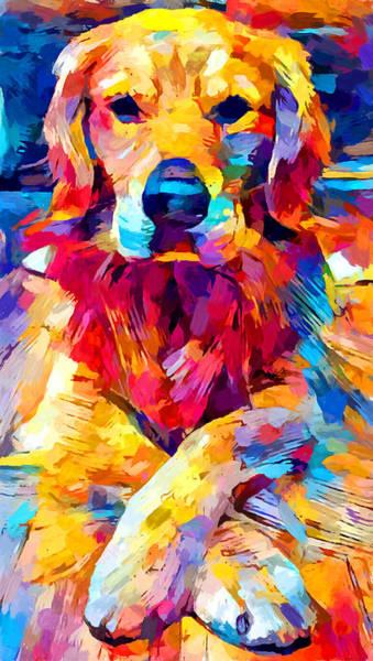 Crossed Legs Painting - Golden Retriever 6 by Chris Butler