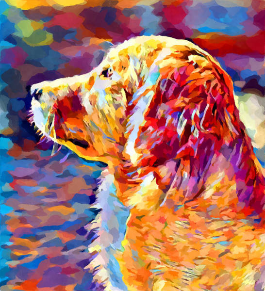 Wall Art - Painting - Golden Retriever 8 by Chris Butler