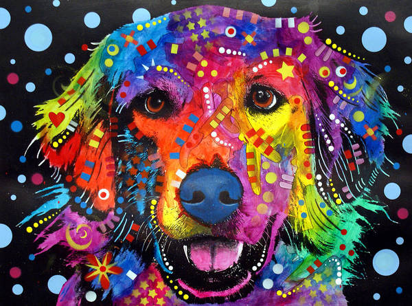 Wall Art - Painting - Golden Retriever by Dean Russo Art
