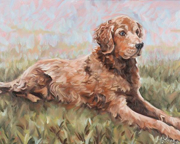 Painting - Golden Retriever by Gary M Long