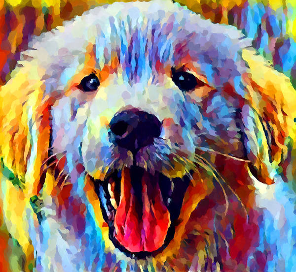 Wall Art - Painting - Golden Retriever Puppy 2 by Chris Butler