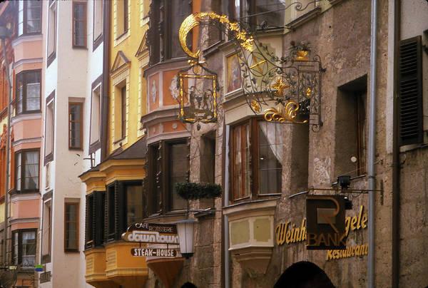 Photograph - Golden Signs On Medieval Facade, Apartment  by Steve Estvanik