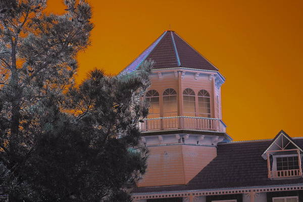 Photograph - Golden Sky Haunting Tower On Gold Strike Casino by Colleen Cornelius