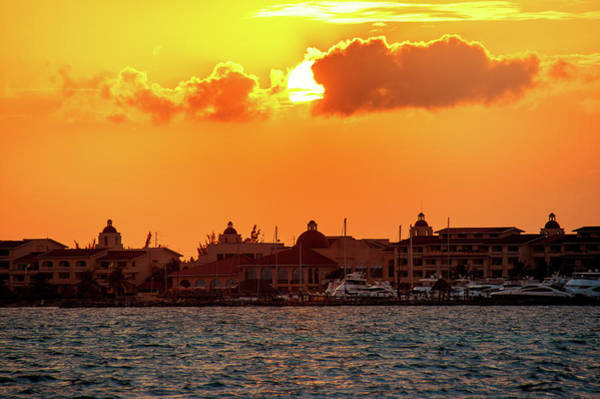 Photograph - Golden Sky In Cancun by Sun Travels