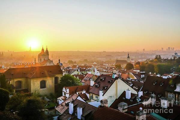 Wall Art - Photograph - Golden Sky In Prague by DAC Photo