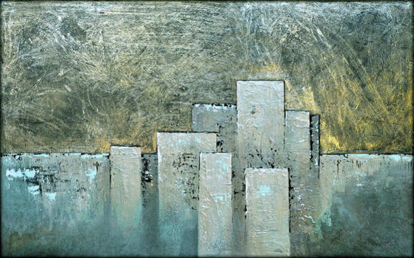 Wall Art - Painting - Golden Skyline II by Shadia Derbyshire