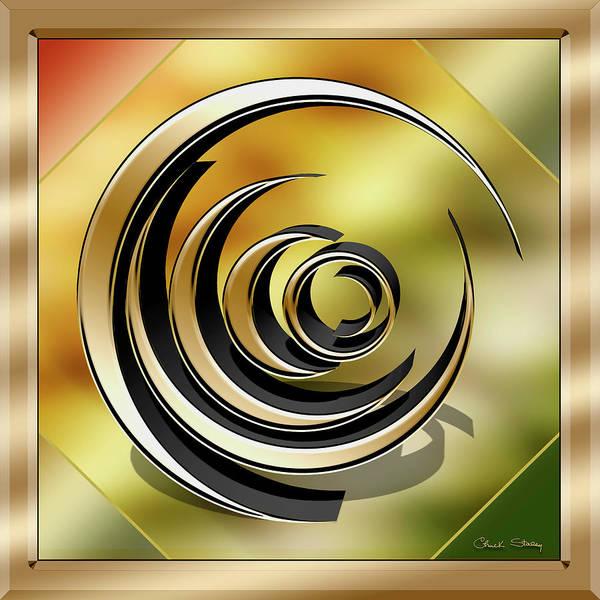 Digital Art - Golden Spiral by Chuck Staley