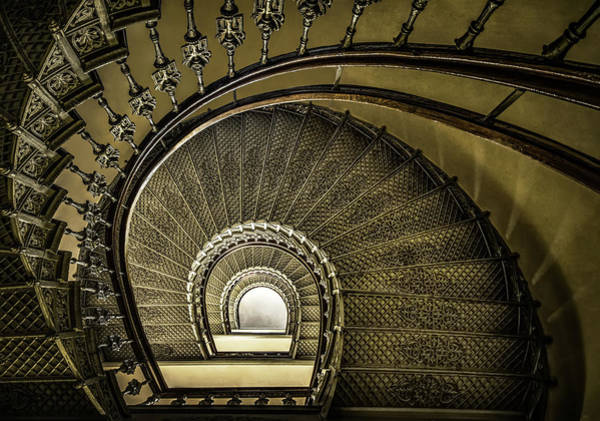Photograph - Golden Stairway by Jaroslaw Blaminsky