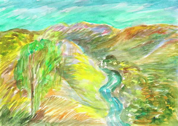 Painting - Golden Summer Days In The Mountains by Irina Dobrotsvet
