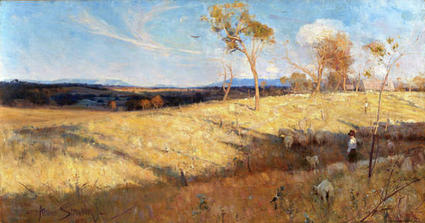 Wall Art - Painting - Golden Summer, Eaglemont - Digital Remastered Edition by Arthur Streeton