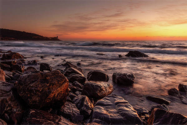 Photograph - Golden Sunset Along The Coast In Tuscany.  by Matteo Viviani