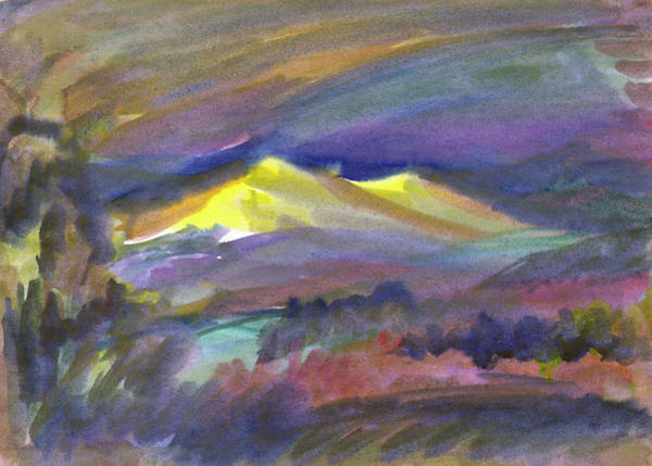 Painting - Golden Sunset In The Mountains by Irina Dobrotsvet