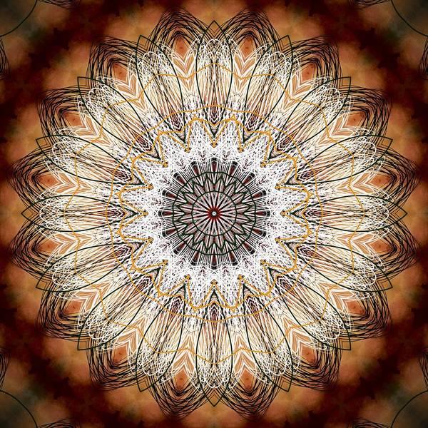 Digital Art - Golden Sunset Mandala  by Sheila Wenzel