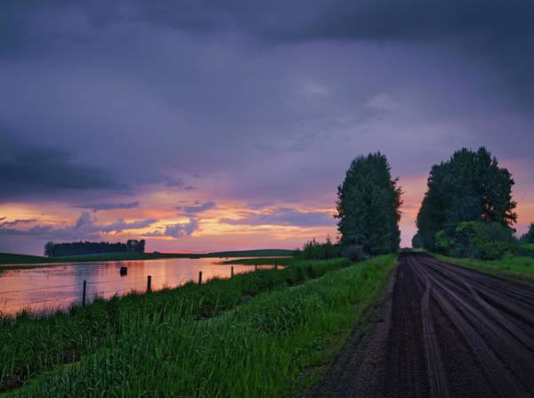 Photograph - Golden Sunset Near Westlock by Dan Jurak
