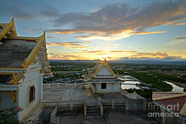 Beauty Of Nature Wall Art - Photograph - Golden Sunset On Prachuap Khiri Khan by Fabio Lamanna