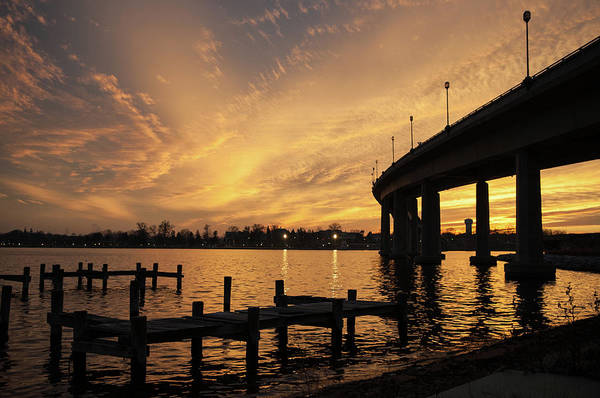 Photograph - Golden Sunset Over The Severn River by Mark Duehmig
