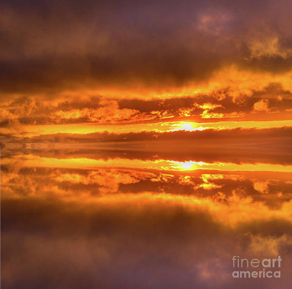 Photograph - Golden Sunset Reflections by Alana Ranney