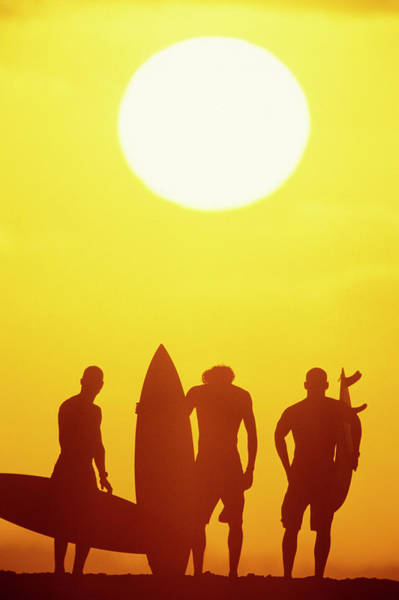 Wall Art - Photograph - Golden Surf Silhouettes by Sean Davey