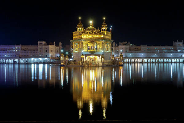 Indian Culture Photograph - Golden Temple At Night In Amritsar by Yoav Peled