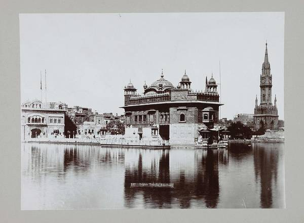 Wall Art - Painting - Golden Temple In Amritsar, Anonymous, C. 1895 - C. 1915 by MotionAge Designs