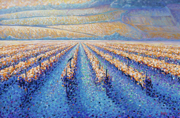 Painting - Golden Vineyards by Rob Buntin