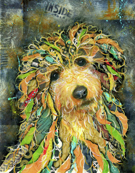 Mixed Media - Goldendoodle by Patricia Lintner