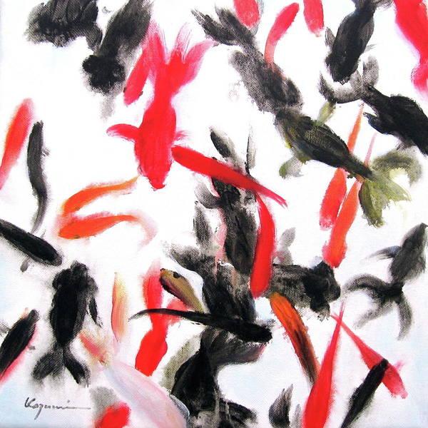 Painting - Goldfish  by Kazumi Whitemoon
