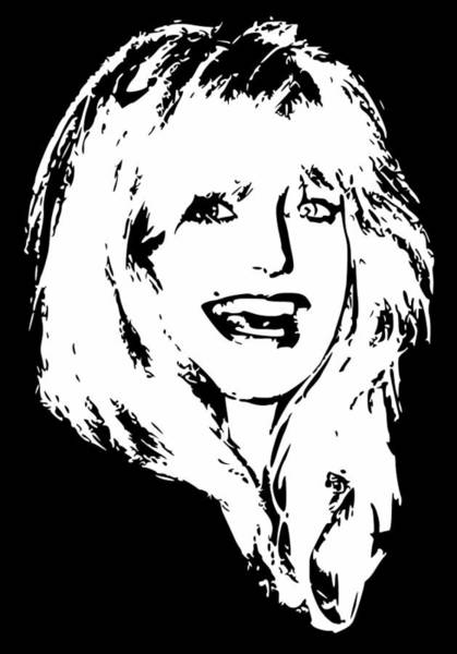 Wall Art - Digital Art - Goldie Hawn Minimalistic Pop Art by Filip Hellman