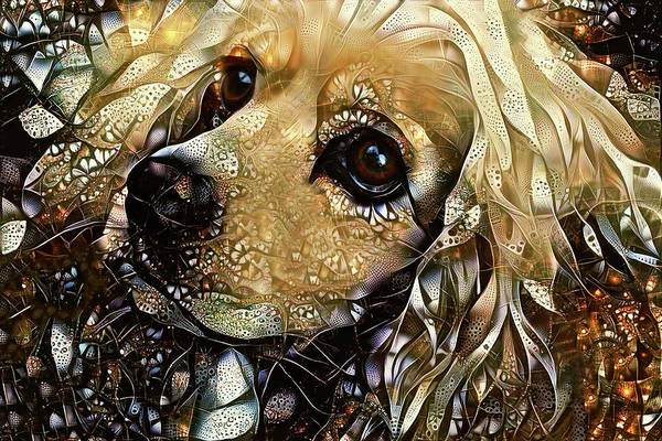 Digital Art - Goldie The Cocker Spaniel by Peggy Collins