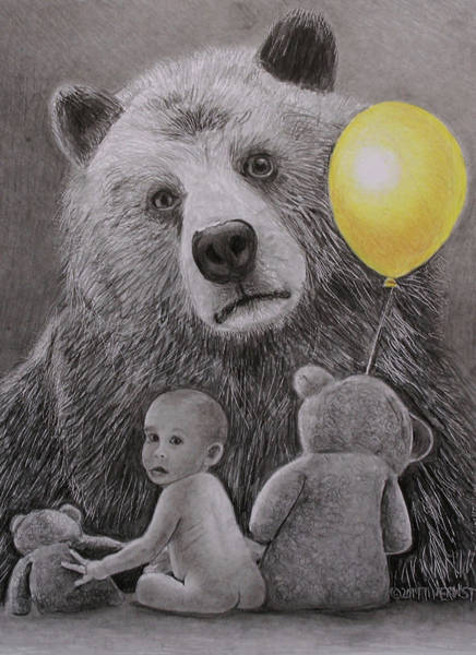 Drawing - Goldilocks And The Three Bears by Tim Ernst