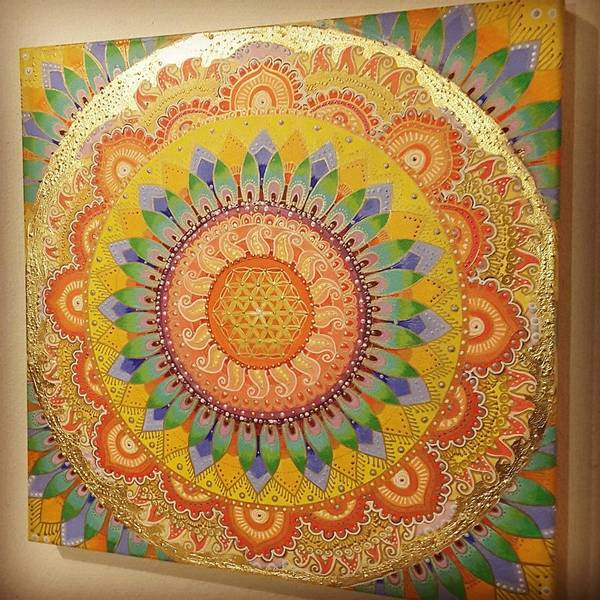 Wall Art - Painting - Goldmantra by Bahar Hanika